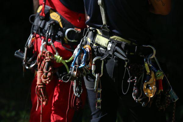 Les pompiers du GRIMP ont une formation et un équipement adaptés aux interventions en milieux atypiques (illustration)