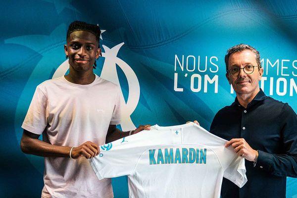 Aaron Kamardin a signé son premier contrat professionnel avec l'OM, à seulement 18 ans.