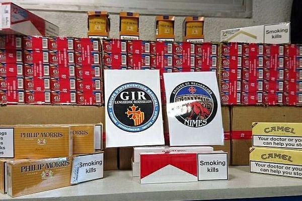 Nîmes - saisie de cigarettes de contrebande avec Andorre - mai 2017.
