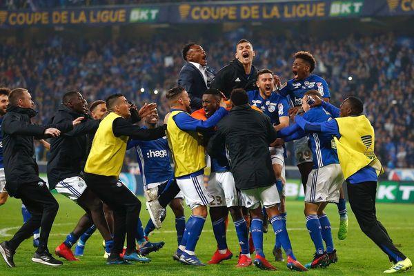 La joie des Strasbourgeois à la fin de la séance de tirs au but.