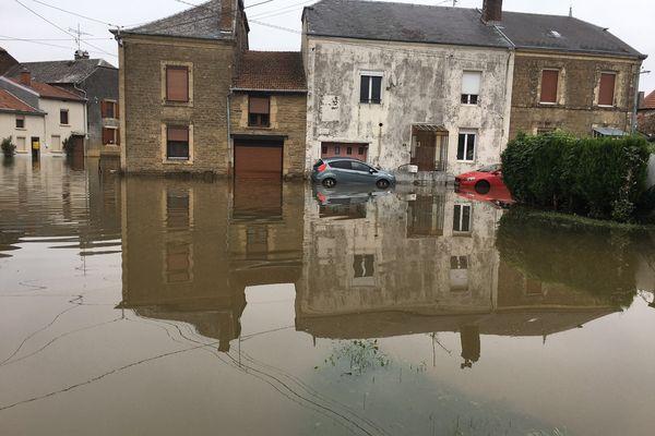 A La Ferté-sur-Chiers, le village a été complètement inondé suite aux intempéries de cette mi-juillet 2021.