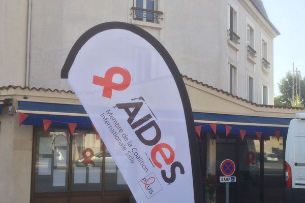 Les nouveaux locaux de l'association AIDES à Poitiers, à la Porte de Paris.