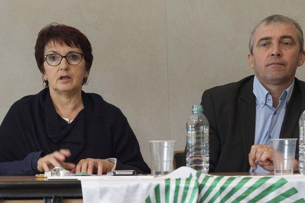 Christiane Lambert, présidente de la FNSEA et Patrick Bénézit, secrétaire général adjoint de la FNSEA