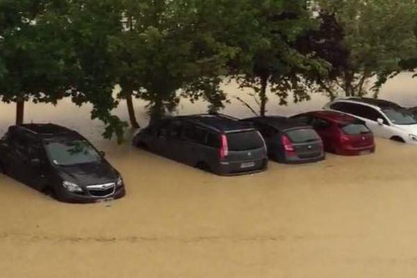 Inondations à Lézat sur Lèze