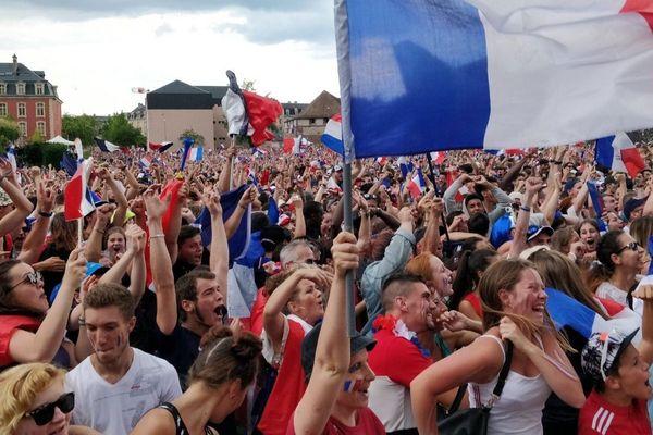 La Fan zone de Belfort a vécu un match France Croatie entré dans la légende
