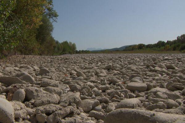 La rivière Drôme à l'été 2019
