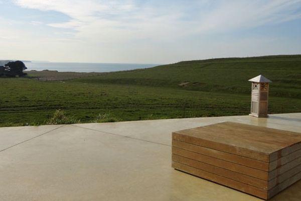 Terrasse vue sur mer de chambres d'hôtes à Sainte Marguerite sur Mer
