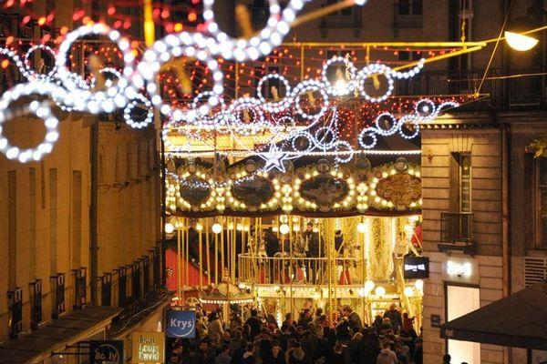 Top départ des illuminations de Noël hier soir à Nantes