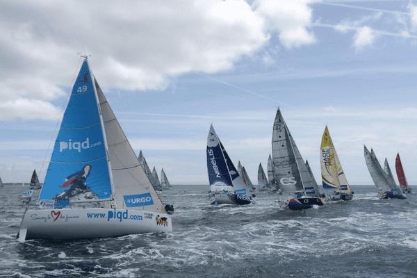 Les skippers doivent parcourir 150 milles lors de la troisième étape de la Solitaire du Figaro, Concarneau-Concarneau.