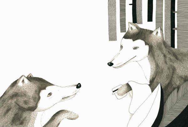 Le grand loup et la fée rouge de Véronique Cauchy et Rebecca Galera