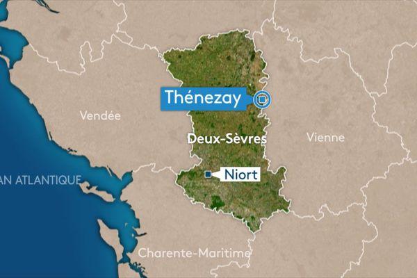L'attaque s'est produite sur la place de l'église et dans la rue du Général de Gaulle à Thénezay.