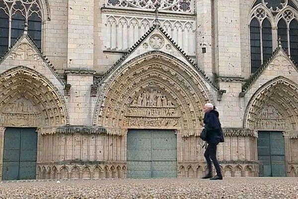 Poitiers - la cathédrale Saint-Pierre - avril 2019.