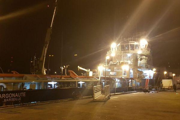 L'Argonaute va se rendre sur les lieux où a été repérée la nappe d'hydrocarbures liée au naufrage du Grande America