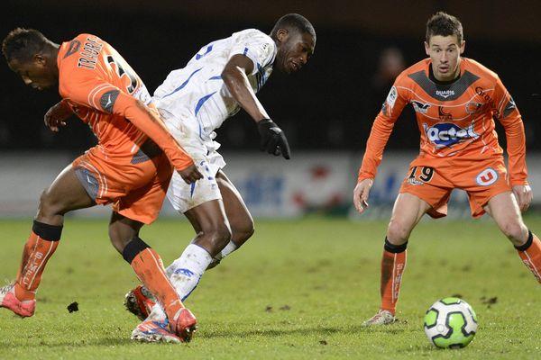 Lors de la rencontre entre le Stade Lavallois et l'AJ Auxerre du 1er février 2013