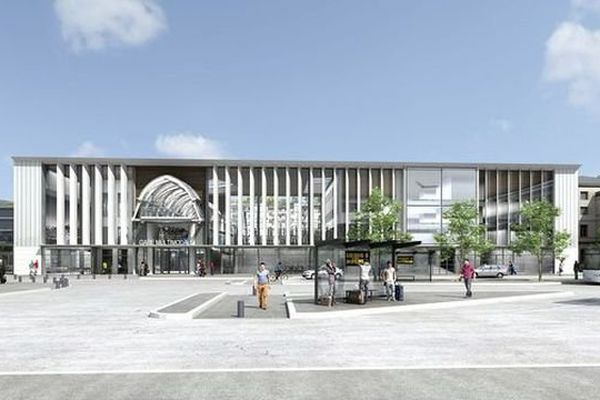 La future gare de Chambéry