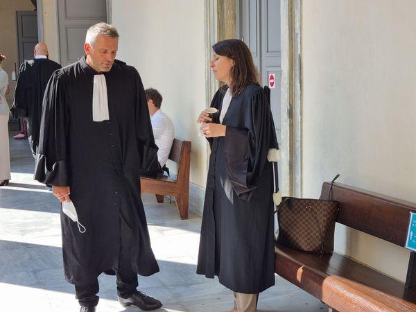 Mes Olivier Rosato et Francesca Seatelli, avocats de la partie civile.