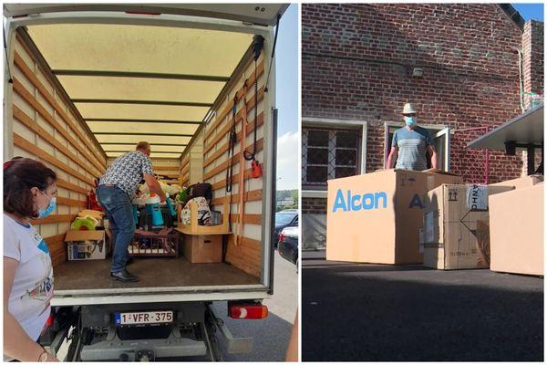De Comines à Onnaing, les dons affluent pour venir en aide aux sinistrés belges durement touchés après les inondations.