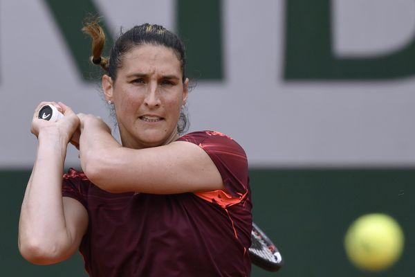 Virginie Razzano à Roland Garros en 2016