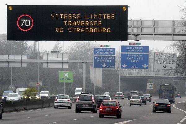 Les automobilistes invités à réduire leur vitesse, samedi 25 janvier 2020, sur les routes du Bas-Rhin.