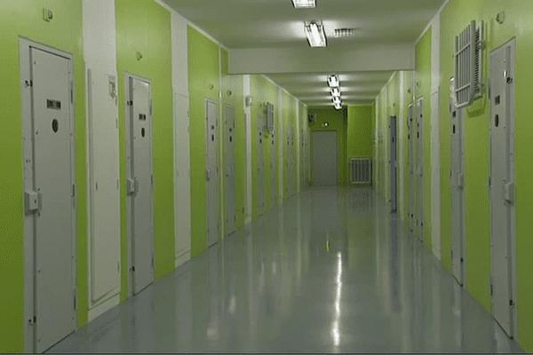 Cellules du centre pénitentiaire de Vezin-Le-Coquet, près de Rennes.