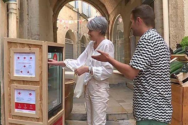 Montpellier - le premier frigo solidaire - juillet 2018.