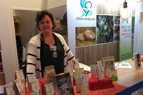 Véronique Léger sur le stand de la région Centre-Val de Loire au salon de l'agriculture