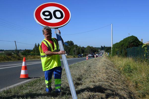 En Indre-et-Loire, 292 kilomètres de voirie reviennent à une limitation à 90 km/h