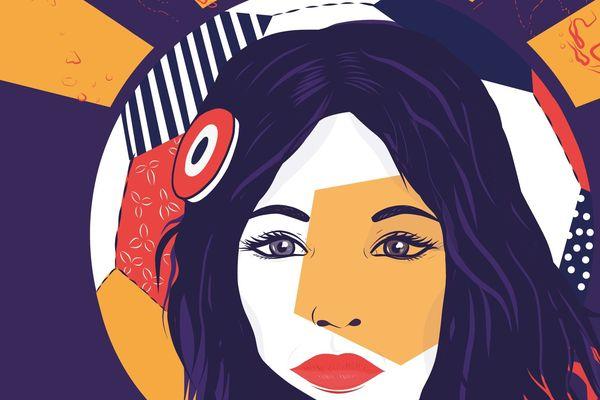 """L'agence de communication a travaillé avec le comité d'organisation pour créer cette illustration qui doit symboliser la """"femme qui illumine le monde""""."""