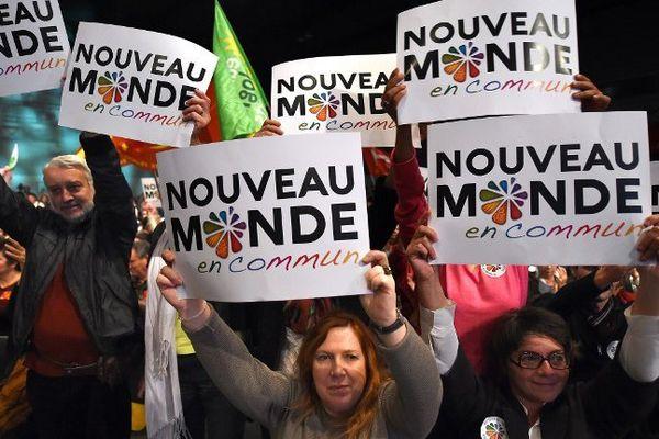 """Près de 3.000 personnes au meeting de la gauche """"d'avenir"""" à Montpellier - 12 novembre 2015"""