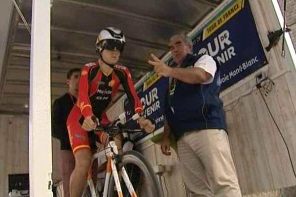 Le prologue du Tour de l'Avenir 2014 se déroulait à Saint-Flour, dans le Cantal.