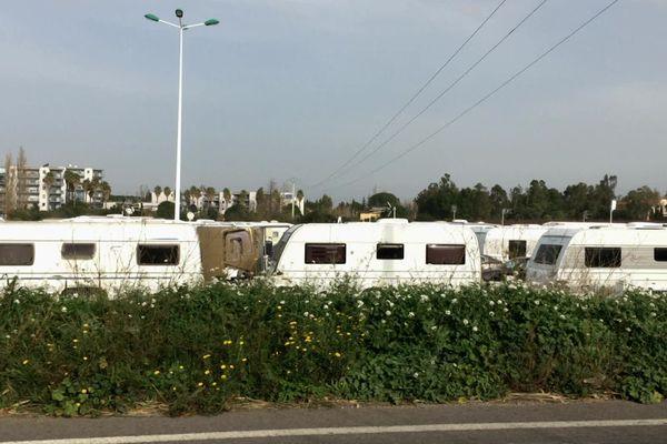 Entre 80 et 90 caravanes occupent différents terrains sur la commune de Saleilles - 18.12.19