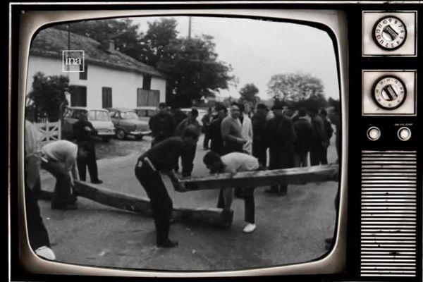Le 24 mai 1968, les agriculteurs montent des barrages sur les routes du Gers