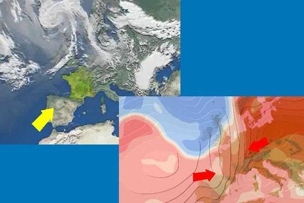 Un anticyclone devrait arriver par le Sud, la chaleur par l'Ouest ou l'Est.