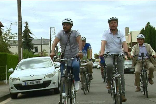 19 juillet 2018- Le maire d'Evreux à vélo pour un tour de sa ville
