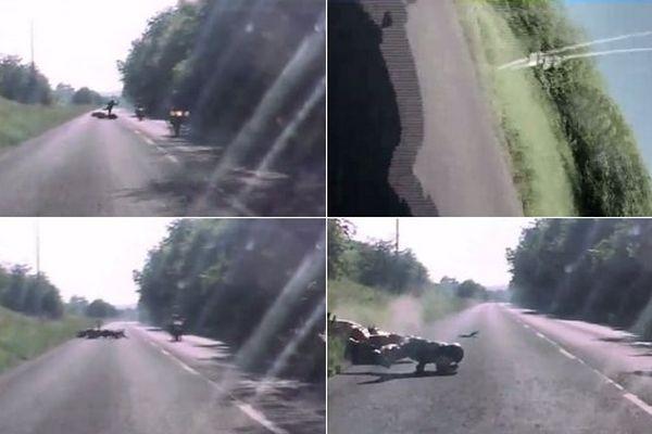 Images capturées pendant l'accident