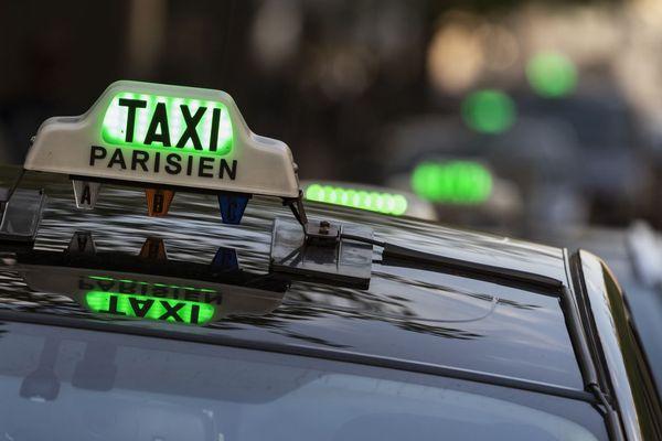 """L'intersyndicale des taxis parisiens à l'origine de l'appel annonce une """"manifestation statique"""" (illustration)."""