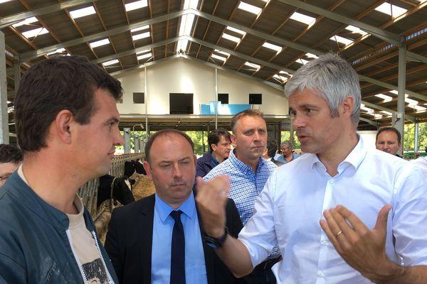 Laurent Wauquiez lors de sa visite en Indre-et-Loire, le 20 juin 2018