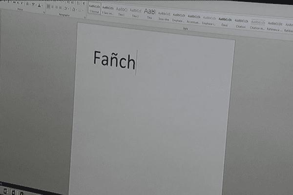 Le tilde ne passe pas pour le prénom Fanch
