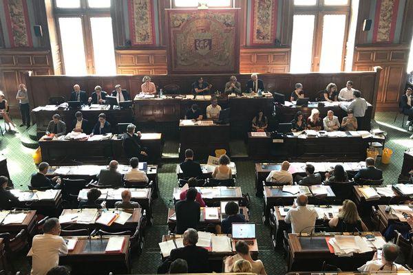 Le Conseil de Paris, le 2 juillet 2018.