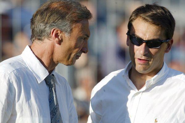 """Avec Eric Monbaerts (entraîneur), Olivier Sadran va lancer la génération des """"Pitchounes"""" et faire remonter le club parmi l'élite."""