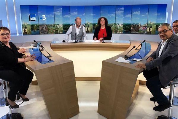 Christine de Neuville, maire de Vicq-sur-Breuilh (87); Marie-Claude Carlat, pdte de l'Udaf 19; Bernard Thalamy, maire d'Aureil (87); Patrick Porée, gilet jaune en Creuse