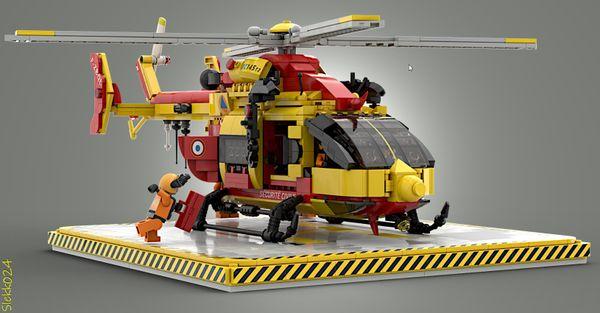 Le projet d'hélicoptère Lego, au plus près de la réalité.