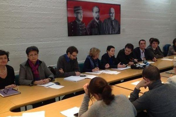 Conférence de presse au siège de la LDH à Paris sur la situation d'Aurore Martin.