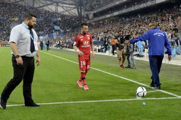 Mathieu Valbuena lors du match OM-OL