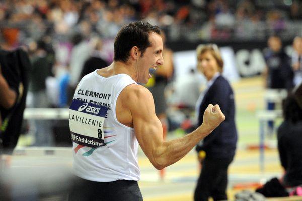 Renaud Lavillenie samedi à Aubière après son nouveau titre de champion de France.
