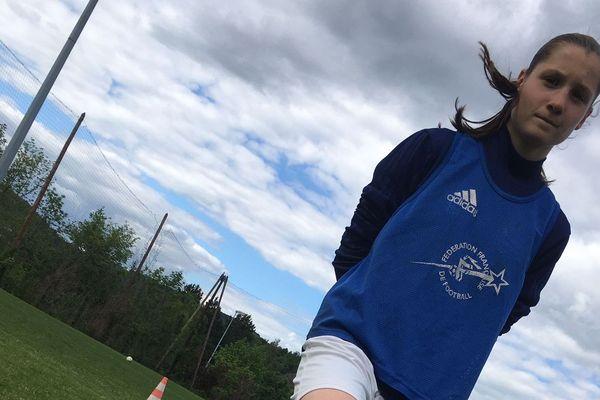 Inès a débuté le football à l'âge de huit ans.