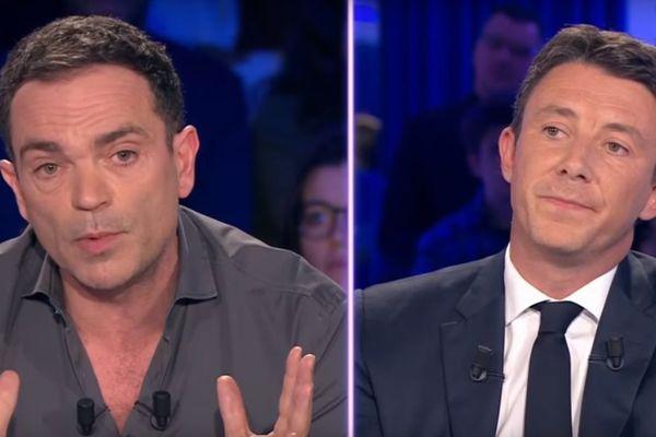 """Yann Moix et Benjamin Griveaux sur le plateau d""""on n'est pas couché"""" sur France 2 ce samedi 6 janvier 2017"""