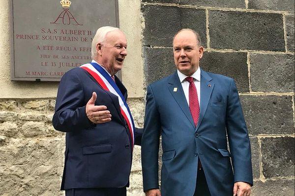 Une plaque commémorative a été dévoilée à Eiffiat lors du passage du prince Albert II de Monaco.