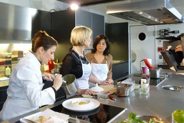 Trois gourmets en cuisine - Odile, Anne-Sophie et Christine