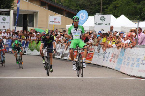 Sonny Colbrelli remporte la 3ème étape du Tour du Limousin, à Liginiac, le 18 août